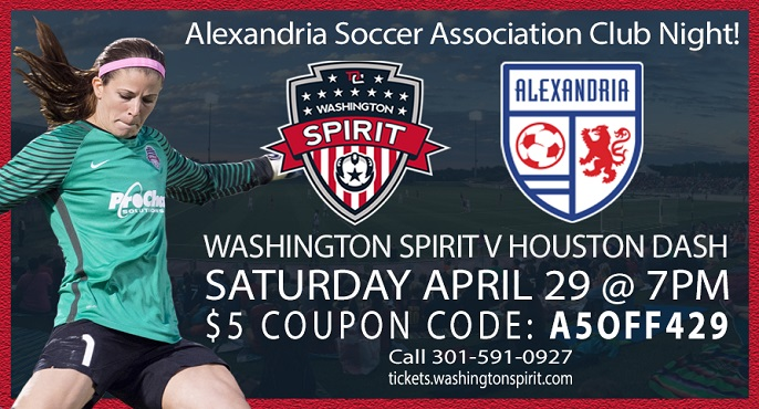 Alexandria Soccer Club Night @ Washington Spirit | Saturday, April 29th